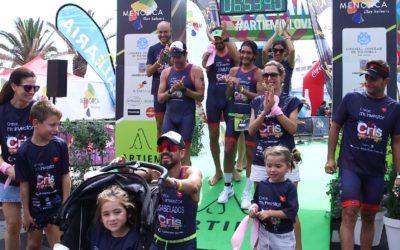 Doble triatlón solidario: Arbeloa, Santamaría y Tayara abanderan la lucha contra el cáncer infantil y completan el reto #untriparacris
