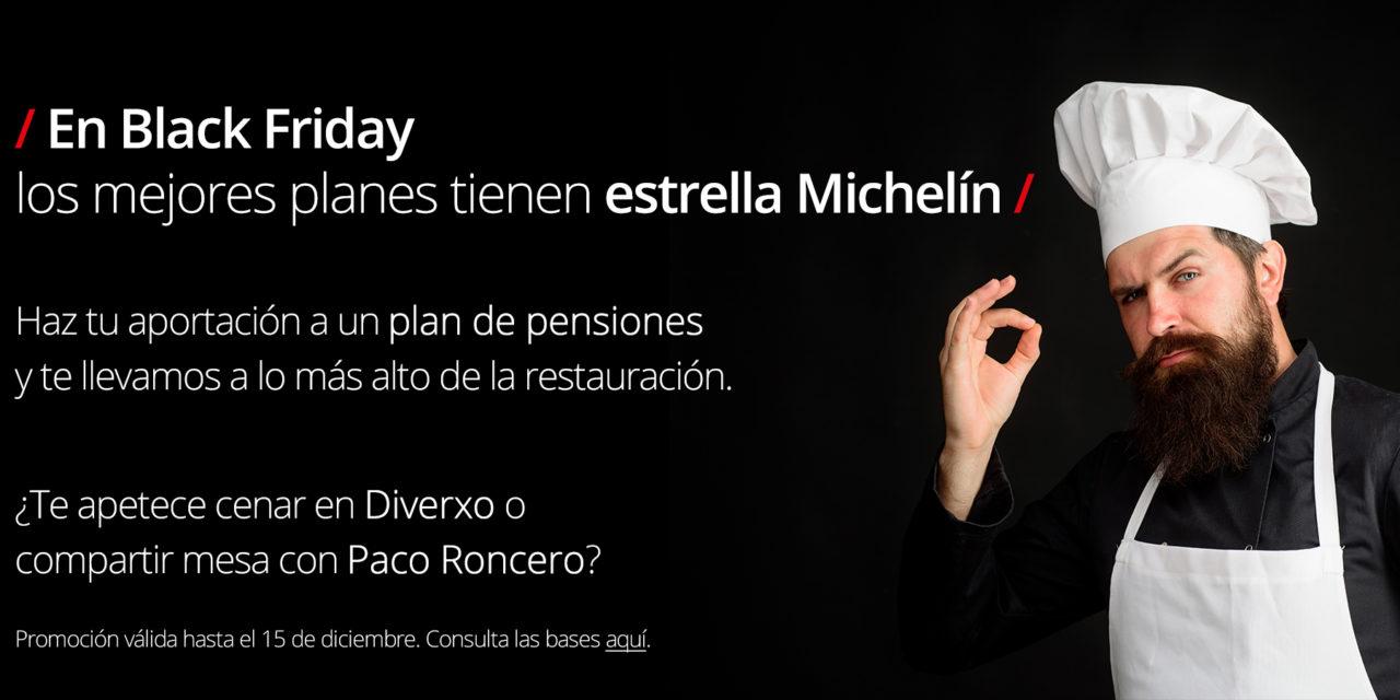 MyInvestor lanza el Black Friday más exclusivo: cenas con estrella Michelín con un plan de pensiones