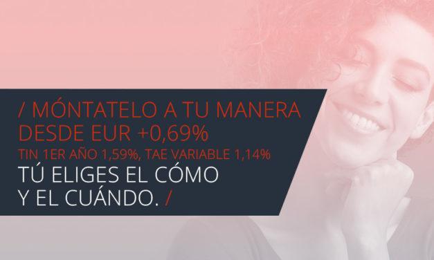 MyInvestor lanza la Hipoteca A Tu Manera ligada a los productos que elijan los clientes desde euríbor más 0,69% a tipo variable y 1,09% a fijo