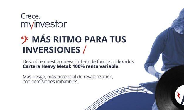 MyInvestor lanza la cartera de fondos indexados Heavy Metal, 100% renta variable, tras superar las 1.000 carteras gestionadas