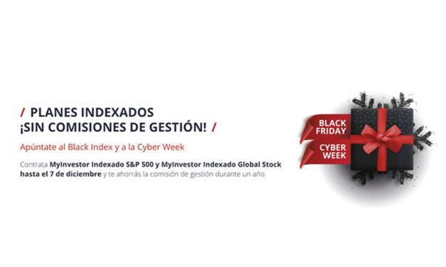 MyInvestor lanza los planes indexados con menores costes del mercado y elimina la comisión de gestión durante el Black Friday y la Cyber Week