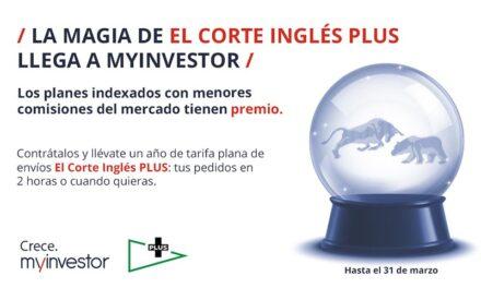 MyInvestor regala un año de tarifa plana de envíos de El Corte Inglés para impulsar sus planes de pensiones indexados